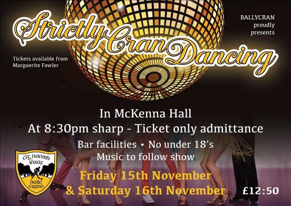 Ballycran's Strictly Cran Dancing 2019 Fund Raiser is Back!