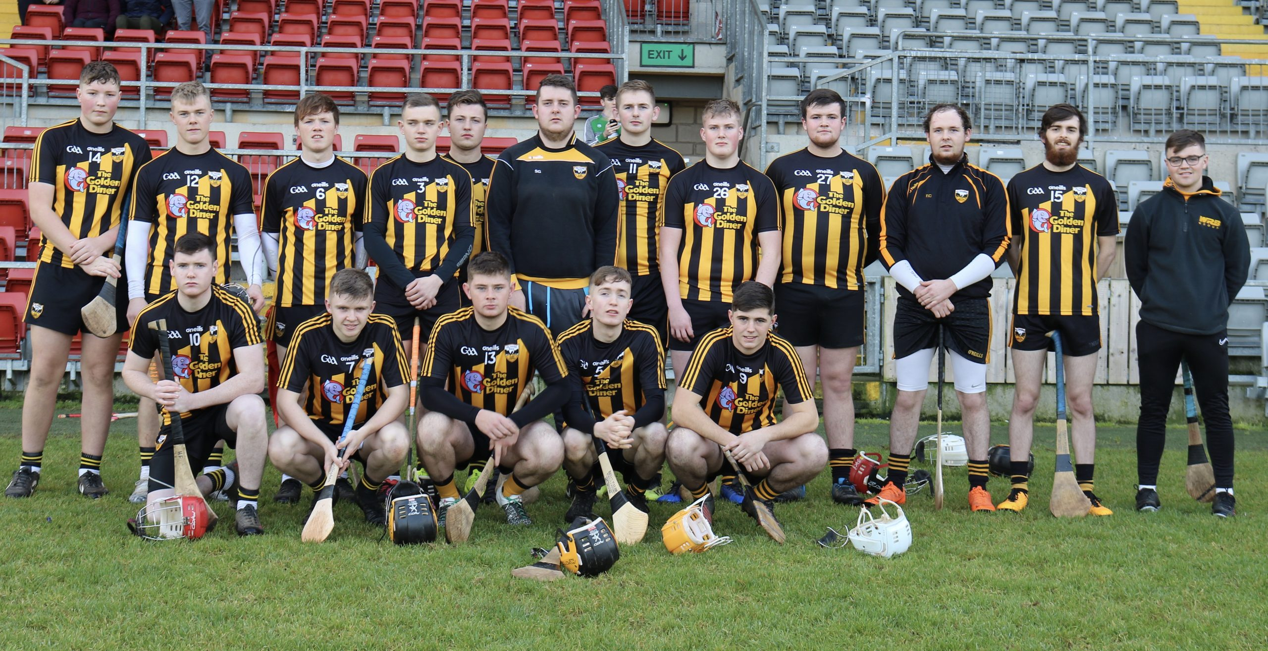 Ballycran's U21 squad progress to the final of the Joe McCrickard Cup