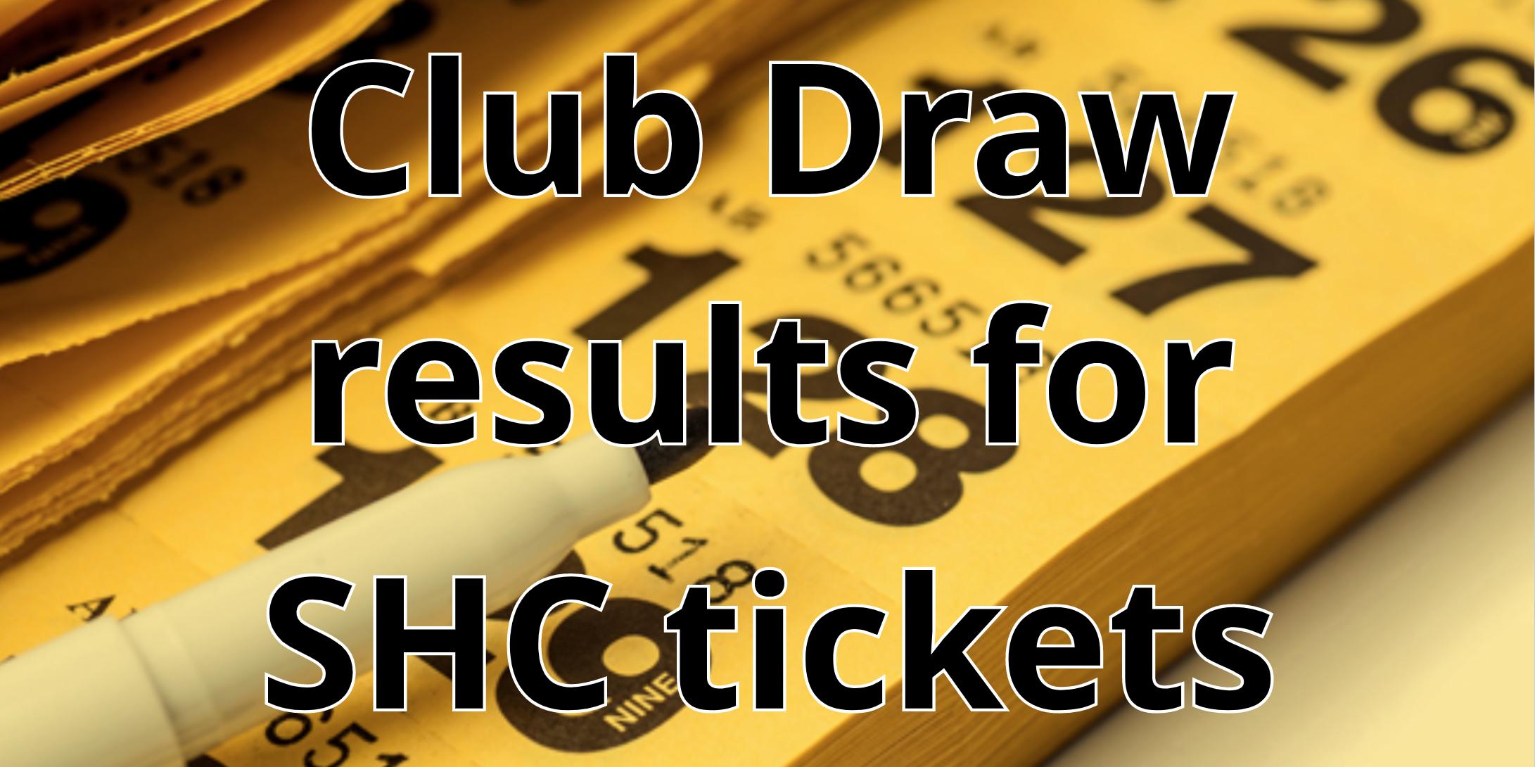 Down GAA SHC Club ticket allocation list and arrangements