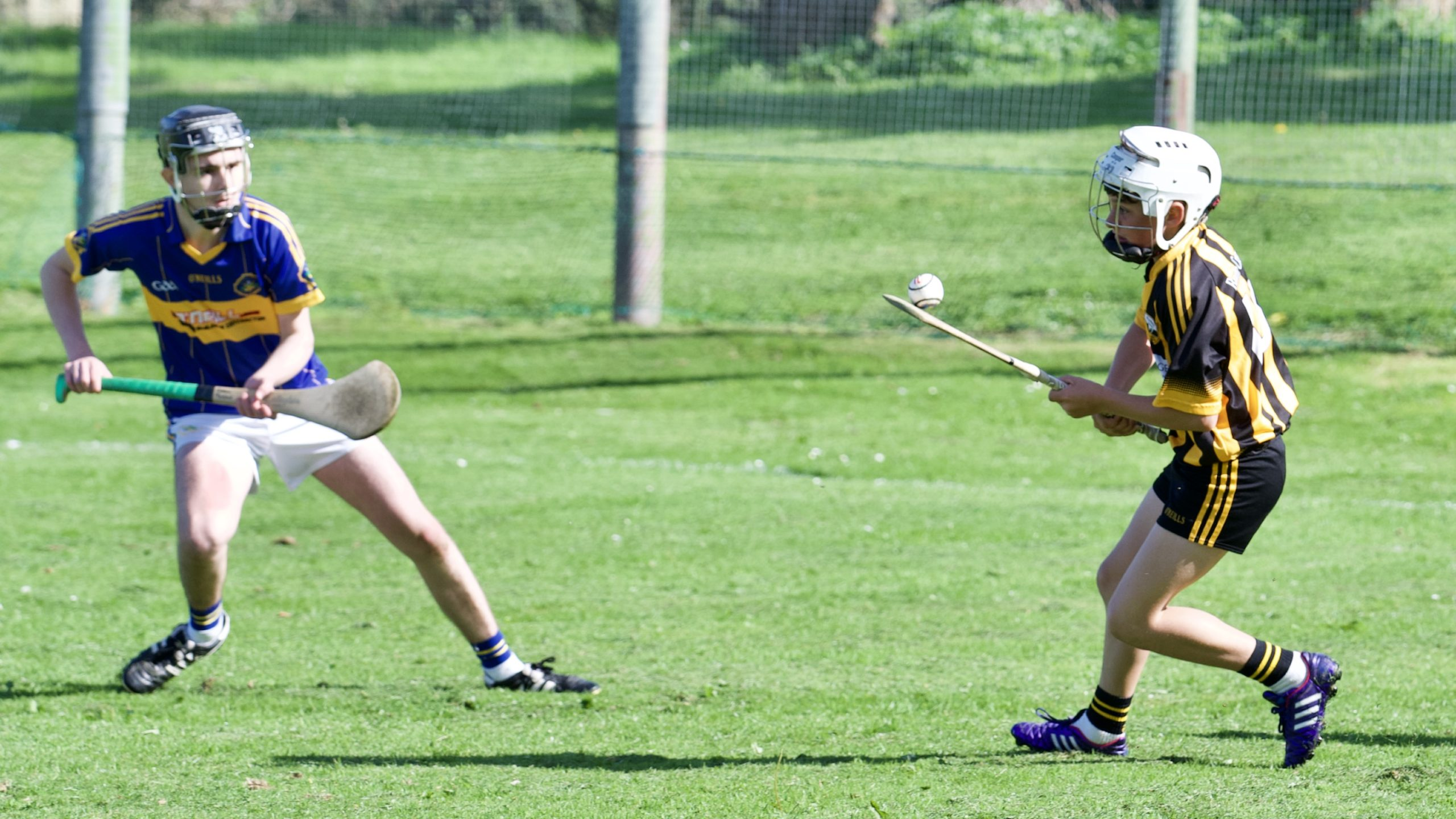 U15 hurlers enjoy their Championship match on a sun drenched St. Patrick's Park, Portaferry