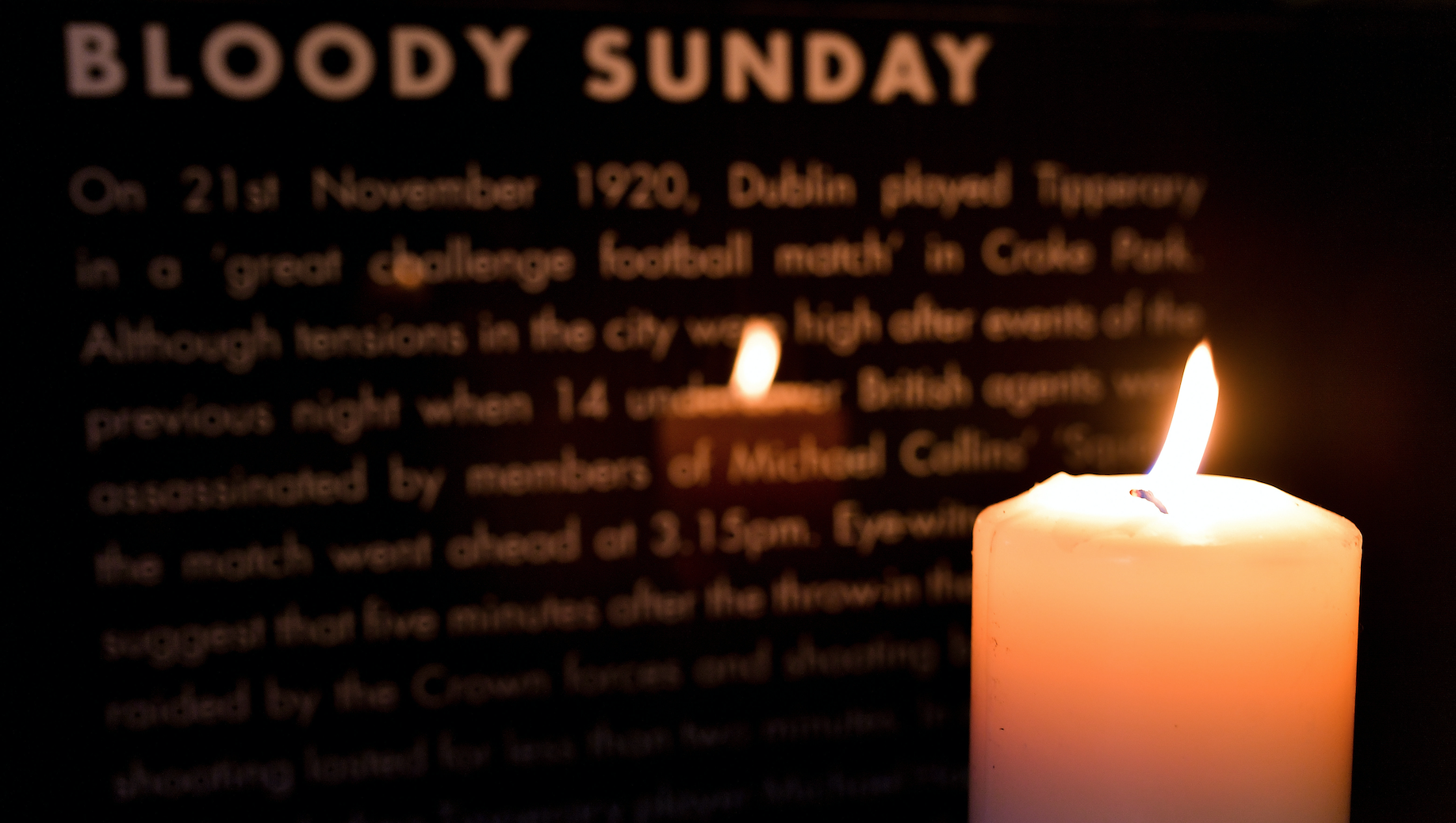 B100dy Sunday – A candle at dusk